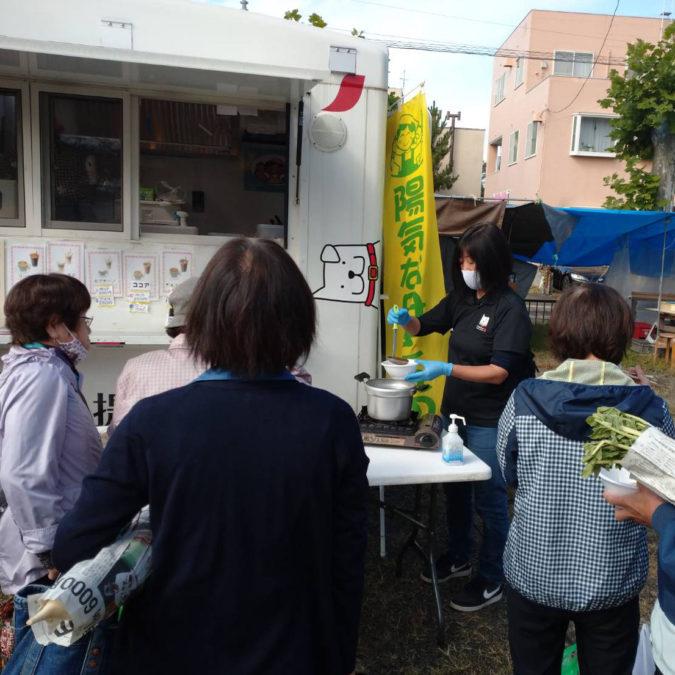 【報告】10/2(金)、10/6(火)、10/7(水)キッチンカーによるなべっこを実施!